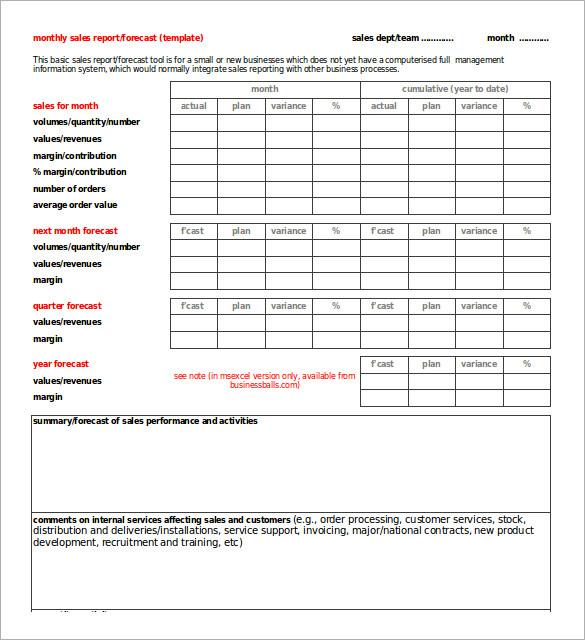 30+ Monthly Sales Report Templates PDF, DOC   Free & Premium