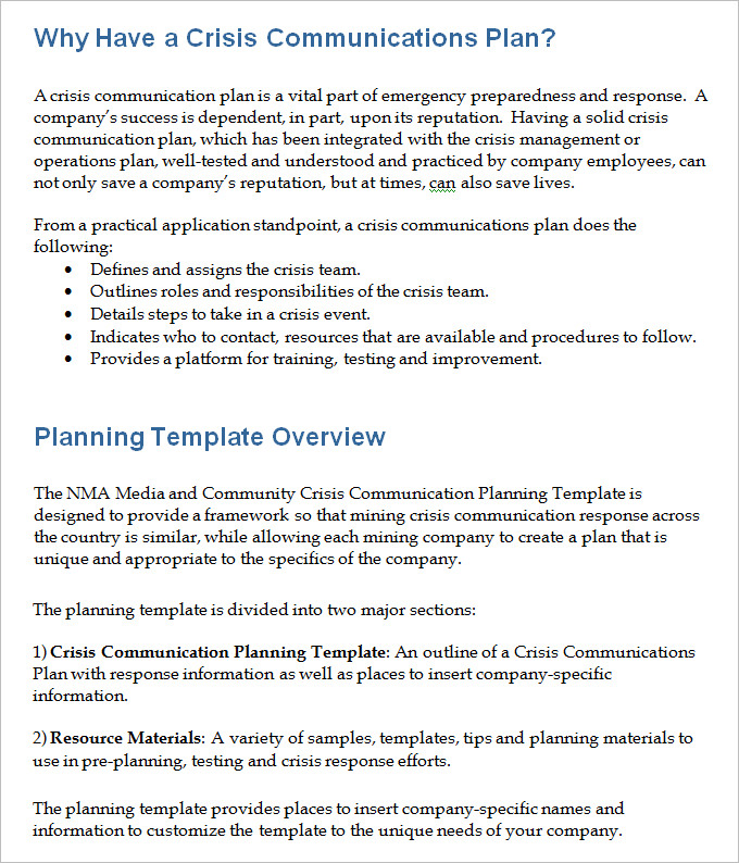 crisis communications plan template Akba.katadhin.co