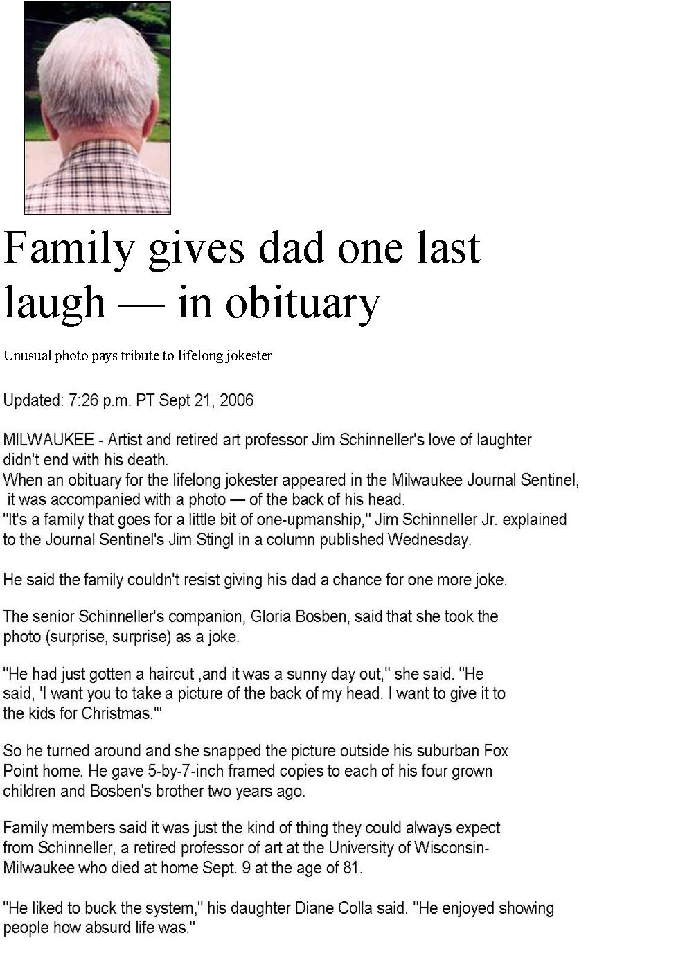 sample obituary for mother Melo.in tandem.co