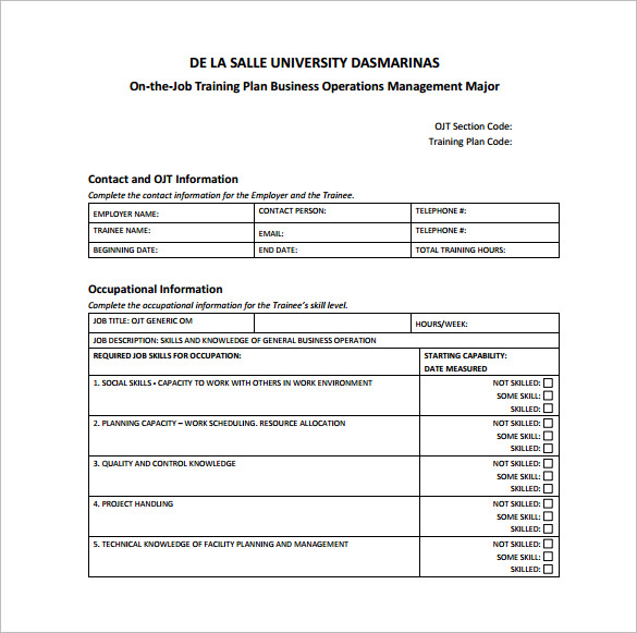 training plan proposal template training plan proposal template