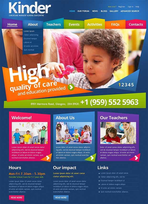 25+ Best Premium School Website Templates   Free & Premium Templates