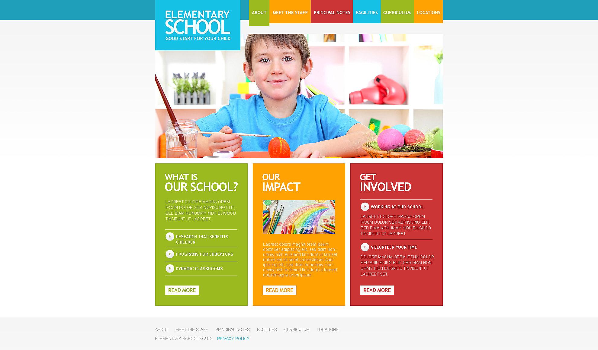 Primary School Responsive Website Template #39379
