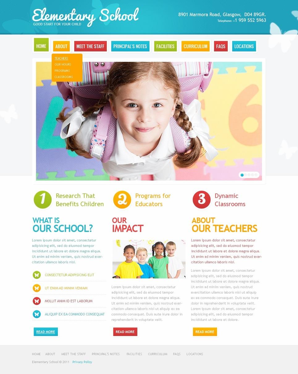 Primary School Website Template #36118