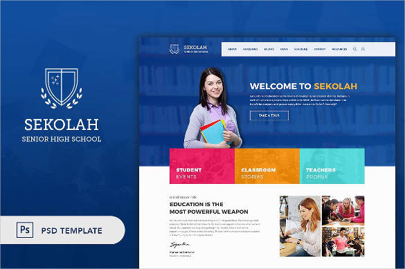 31+ School Website Themes & Templates   Free & Premium Templates