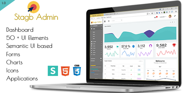 Stagb Semantic Ui Admin Template by yellowred | ThemeForest