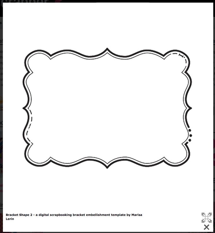 Bracket Shape FREE Templates! | Cards & Envelopes | Pinterest