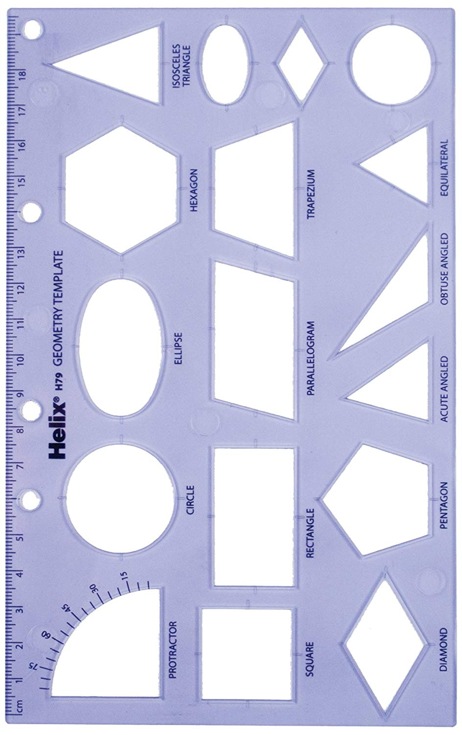 Amazon.: Helix Geometry Shape Template : Paper Templates