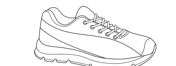 Running Shoe Template – Large