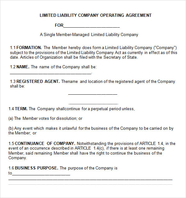 partnership operating agreement template Melo.in tandem.co