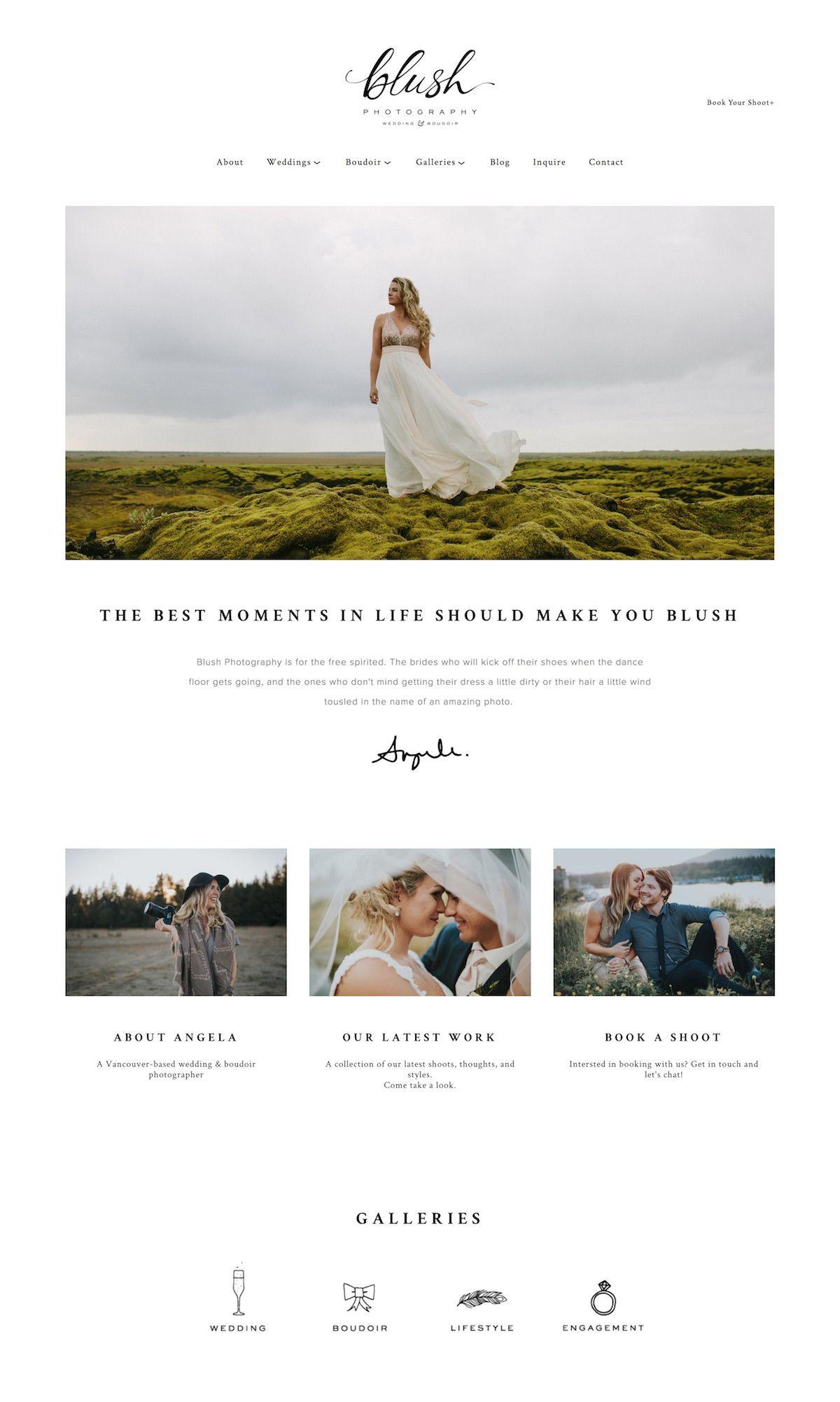 Squarespace 6 Portfolio and Blog Templates: Photographers Who are
