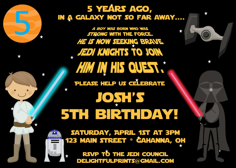 Sta Epic Star Wars Birthday Invites Birthday Invitation Ideas