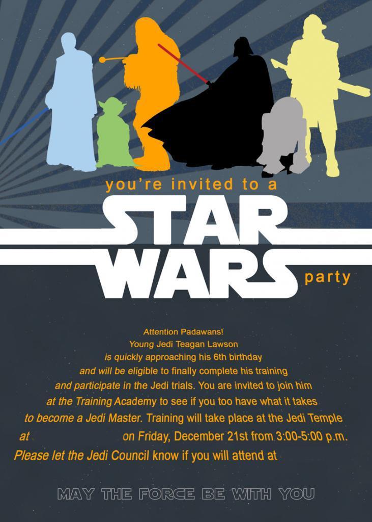Star Wars Birthd Ideal Star Wars Birthday Invitations Birthday