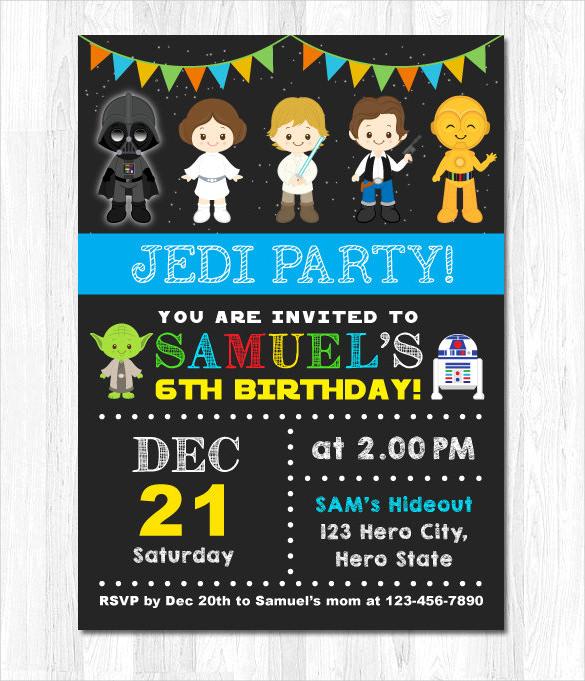 Star Wars Birthday Invitation Luxury Star Wars Party Invites