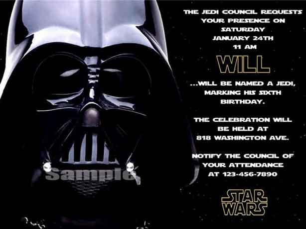 Star Wars Birthday Invitations Nice Star Wars Photo Birthday