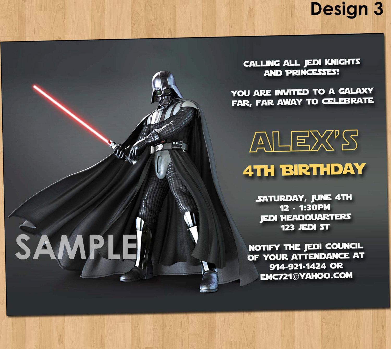 Star Wars Birthday Invites Unique Invitation Of Star Wars Birthday