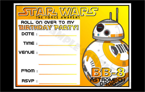 Star Wars Birthday Party Invitations reignnj.Com