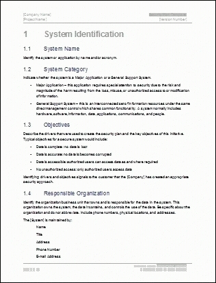 Summary Plan Description Template | Template Business