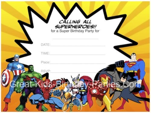 Free Superhero Invitations Templates Superhero Birthday Invitation