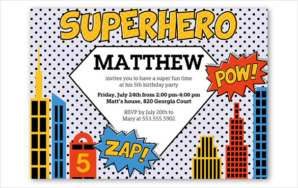 30+ Superhero Birthday Invitation Templates PSD, AI | Free