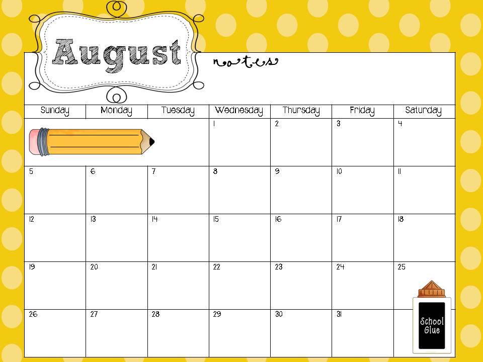 free calendar templates for teachers printable calendars for