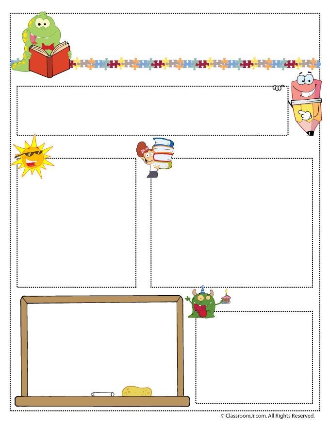Teacher Newsletter Templates | Woo! Jr. Kids Activities