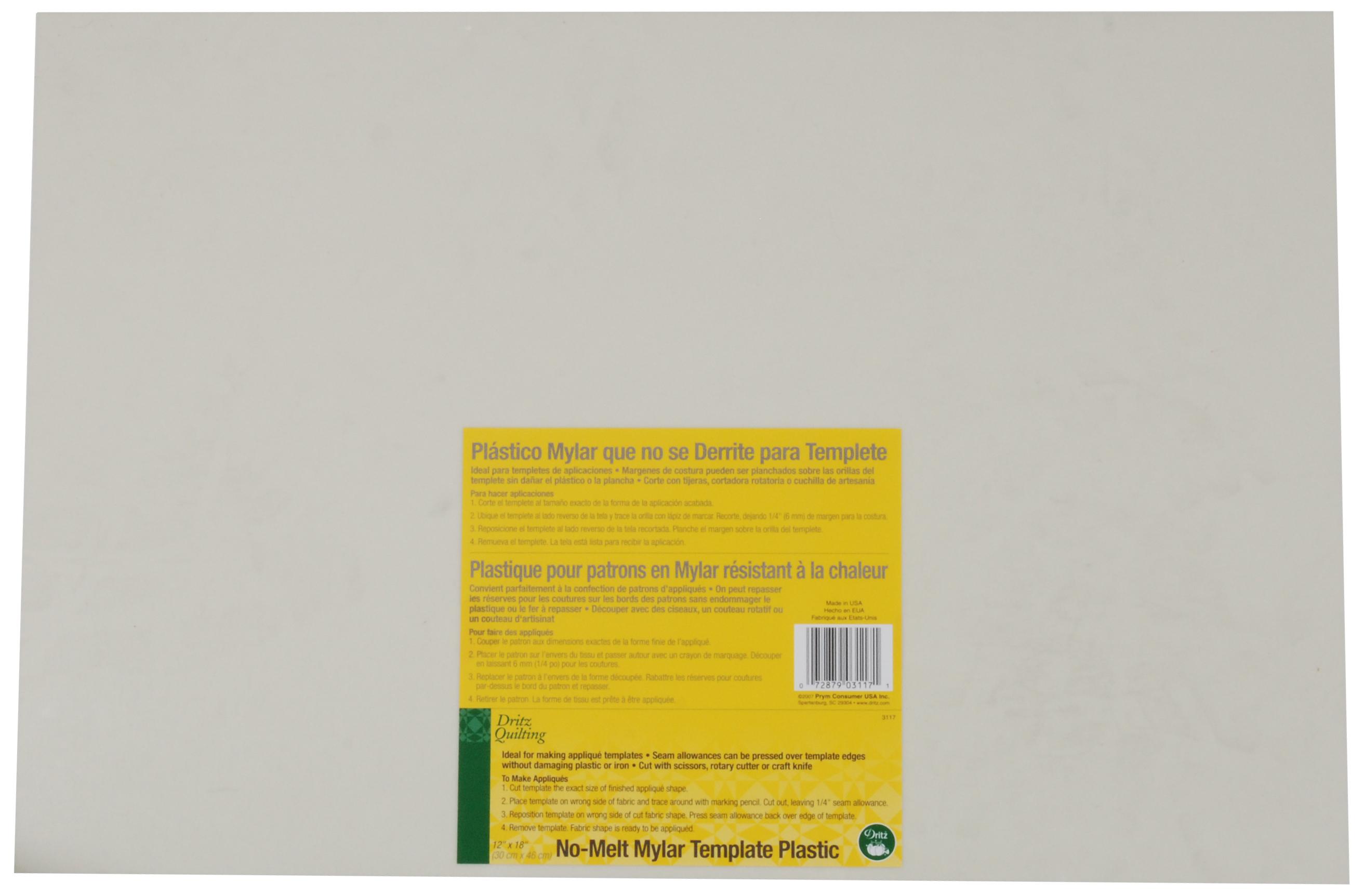 No Melt Mylar Plastic Template Sheets | JOANN