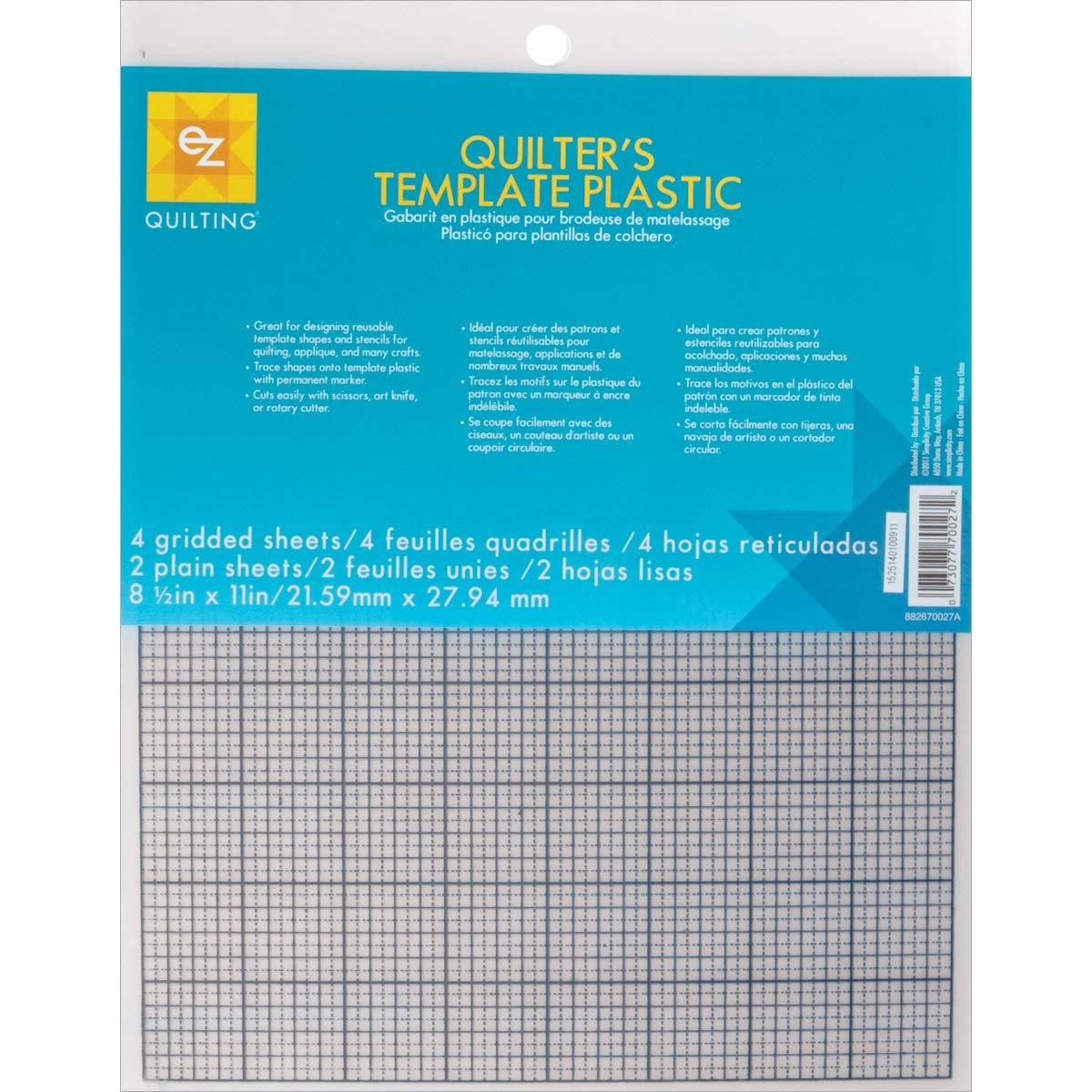 Quilters Template Plastic 12
