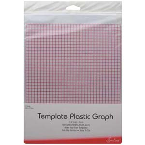 Grid marked template plastic for patchwork templates and quilting