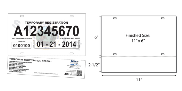image relating to Printable Temporary License Plate Template called Momentary License Plate Template
