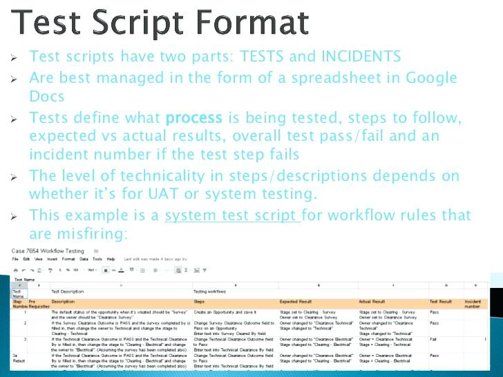 I Test Scripts Manual Script Template Example Best Practices For