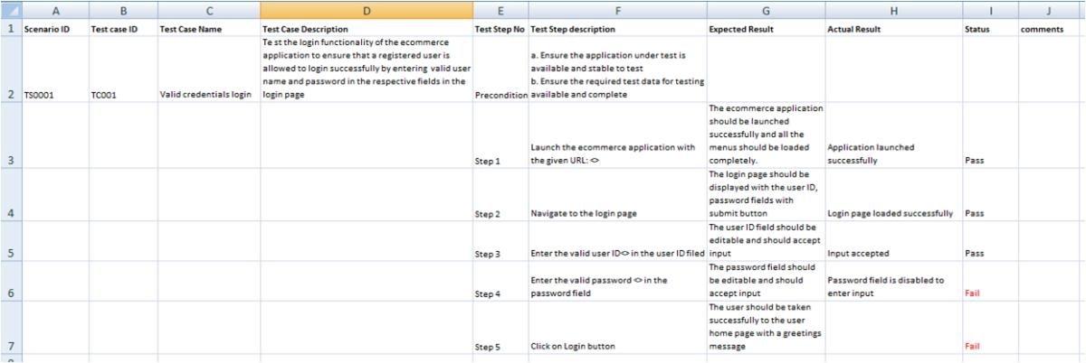 Test Script Template   The Best Template Ideas