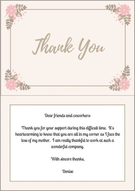 33+ Best Funeral Thank You Cards | Thank you notes | Pinterest