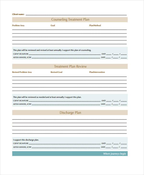 29+ Free Treatment Plan Templates   Free & Premium Templates