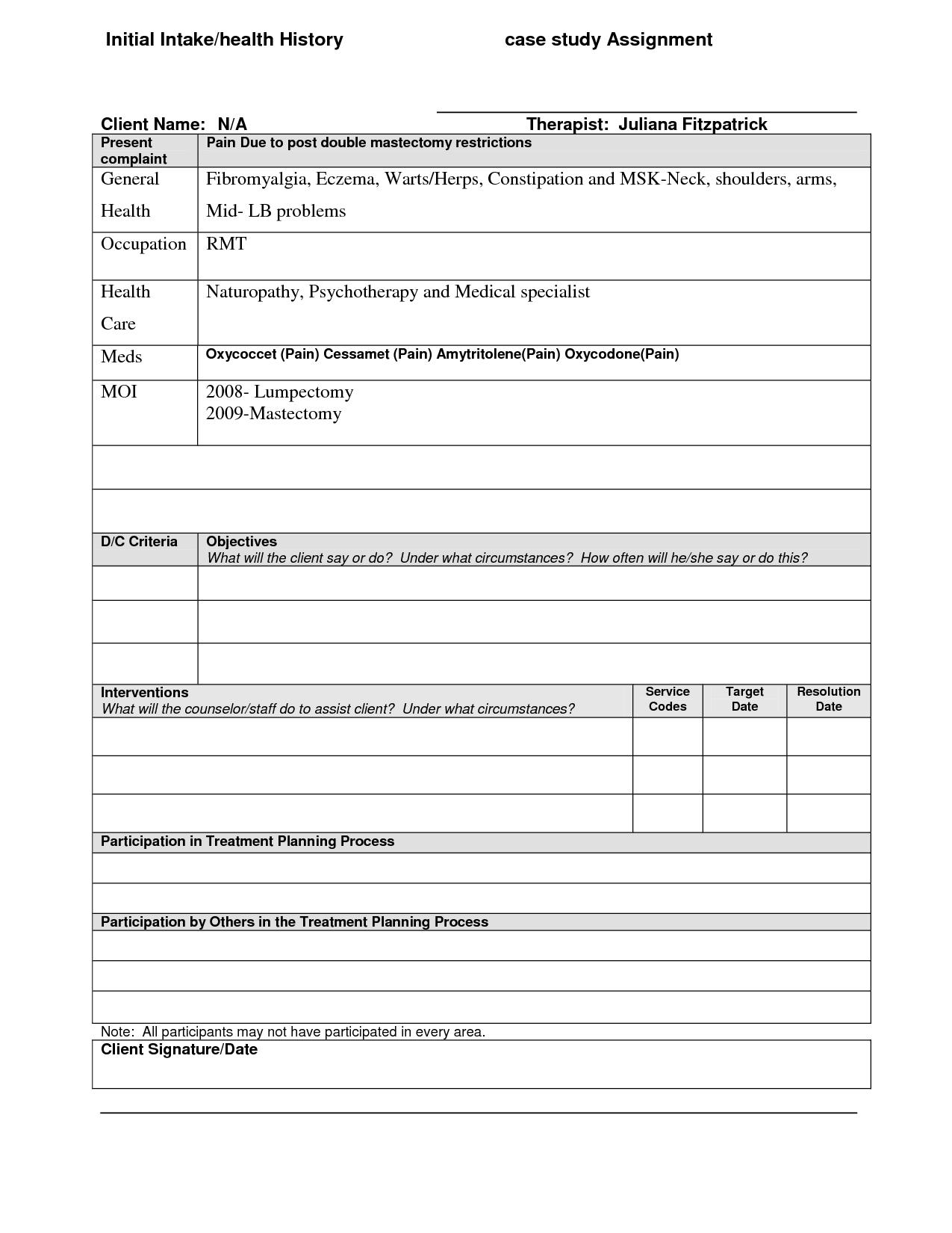 sample individual treatment plan template Kleo.beachfix.co