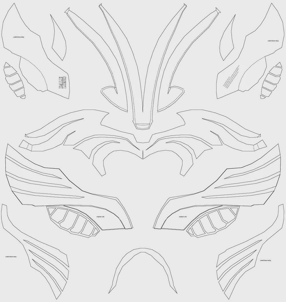 Dali Lomo: Thor Costume Helmet DIY, Last Minute Build free template