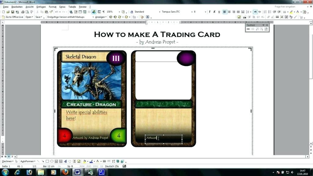 trading card template for word Toma.daretodonate.co