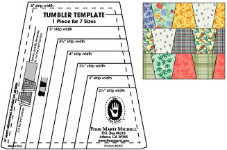 Perfect Patchwork Templates / Cut Tumblers in 8 sizes