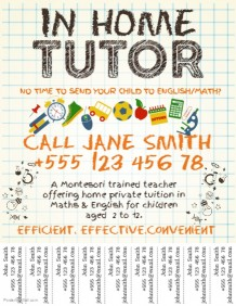 Customizable Design Templates for Tutor | PosterMyWall