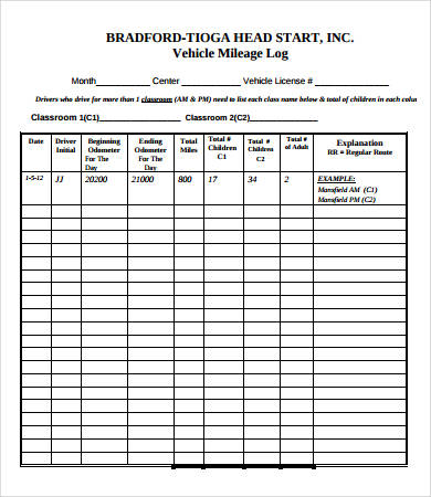 vehicle log sheet template Melo.in tandem.co