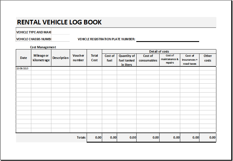 vehicle repair log template Melo.in tandem.co