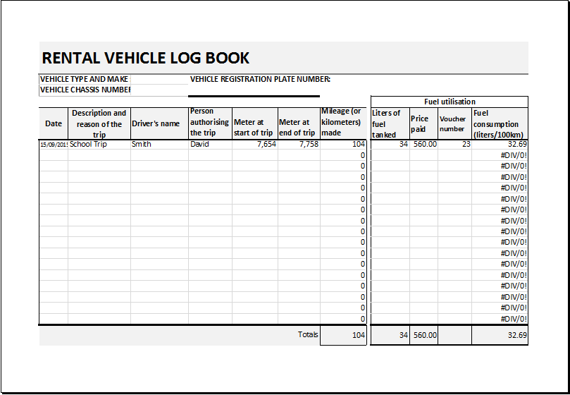 car log book spreadsheet Melo.in tandem.co
