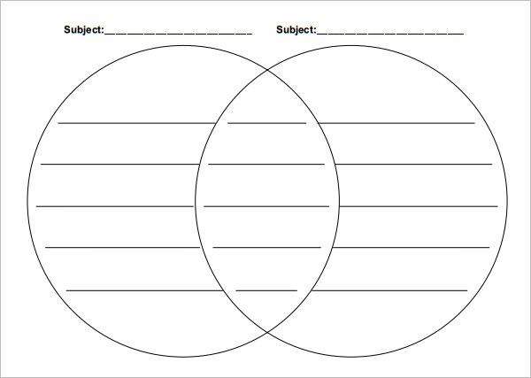 venn diagram template word – Paper Worksheets Calendar Templates