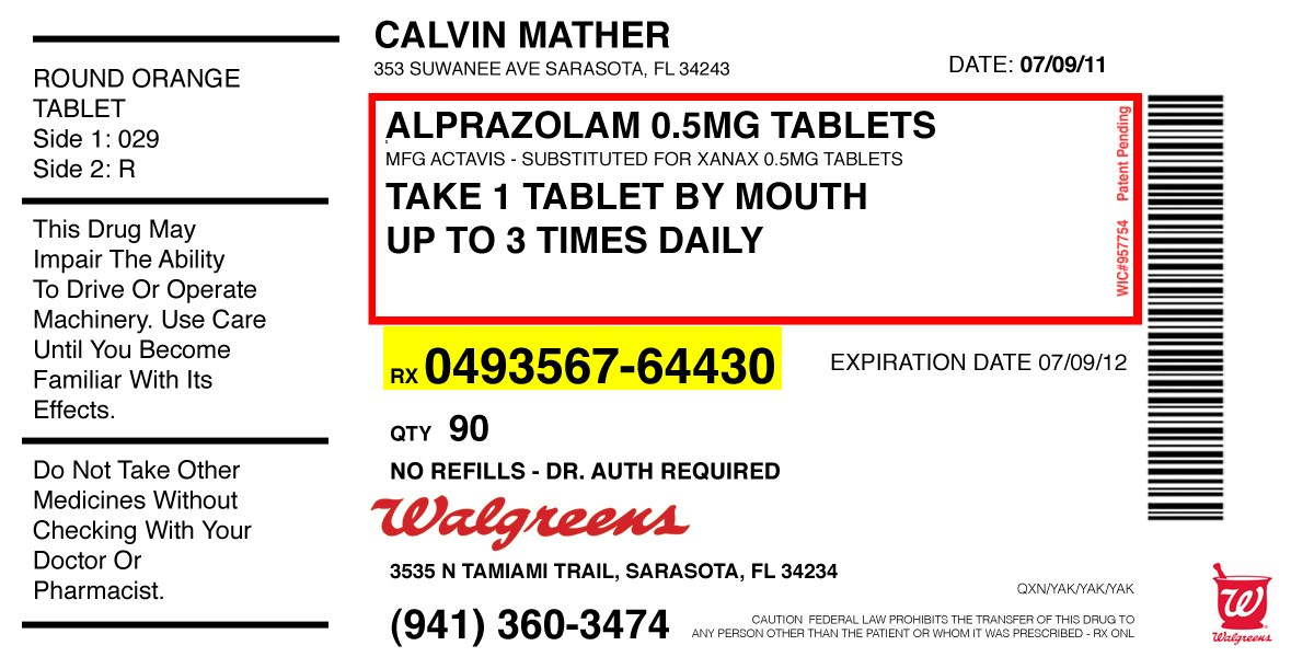 Walgreens Prescription Label Template | direnisteyiz3.org