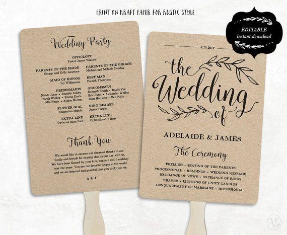 wedding fan program template Melo.in tandem.co