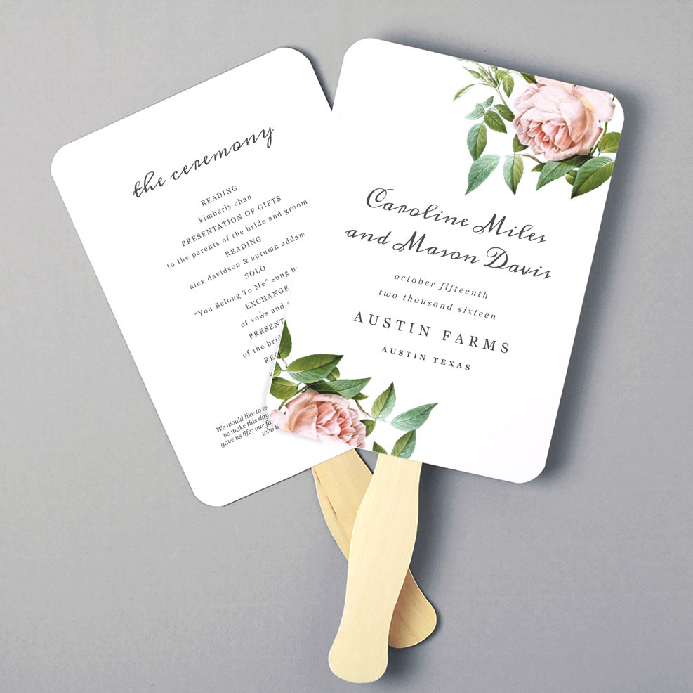 8+ Wedding Fan Program Templates PSD, Vector EPS, AI Illustrator
