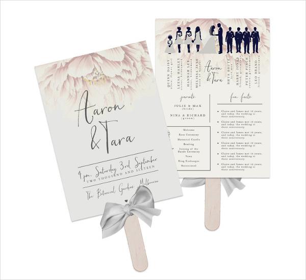 Wedding Program Fan Template Free   DIY: Paddle Fan Program