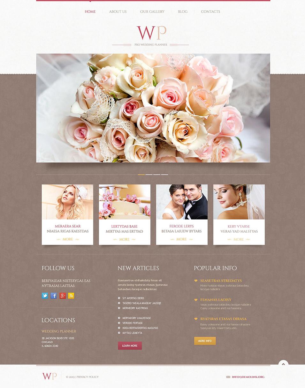 19+ Best Wedding Event Planner Website Templates | Free & Premium