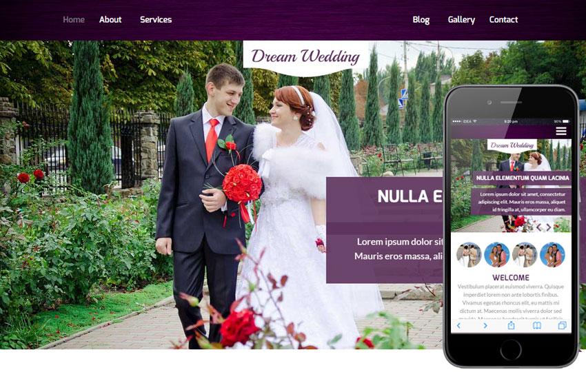 Dream Wedding a Wedding Planner Flat Bootstrap Responsive Web