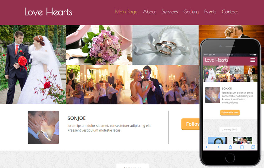 Love Hearts a Wedding Planner Flat Bootstrap Responsive Web