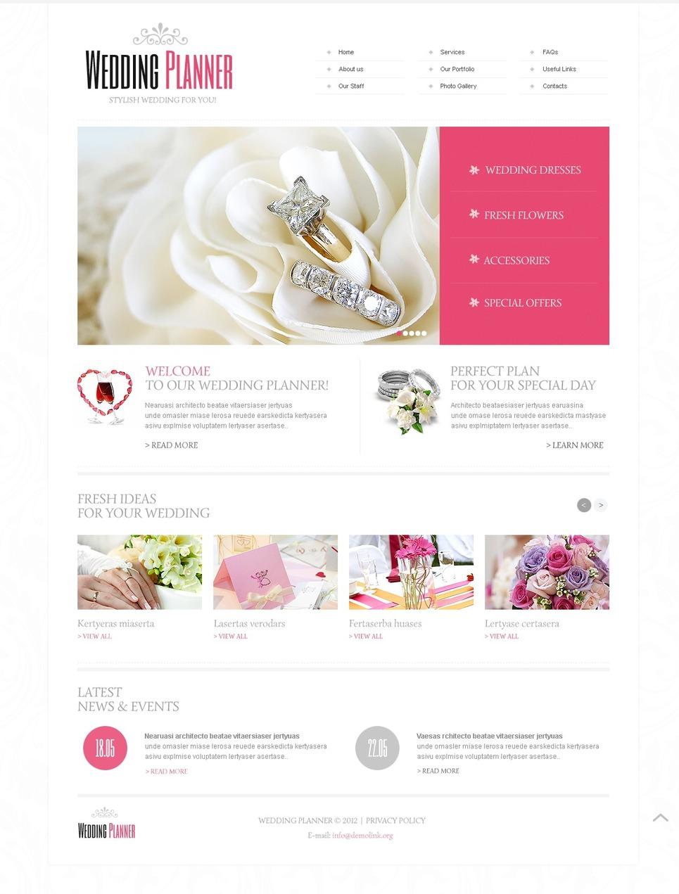 Wedding Planner Website Template #40649
